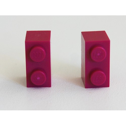 Lego earings purple