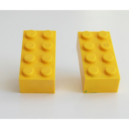 Lego earings yellow
