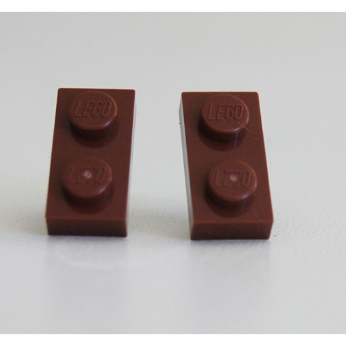 Lego earings brown