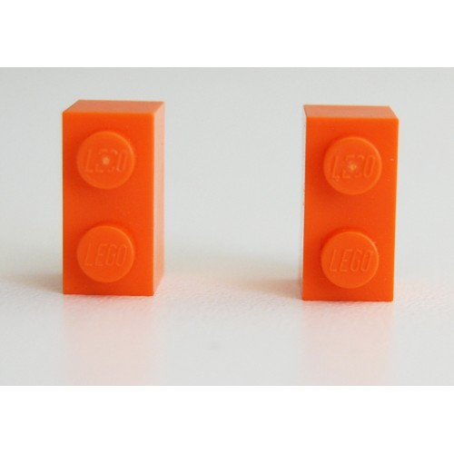 Lego earings orange