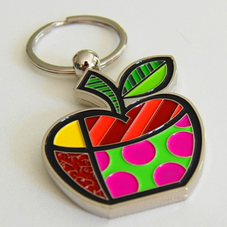 Appleshape keychain emotion collector by Romero Britto