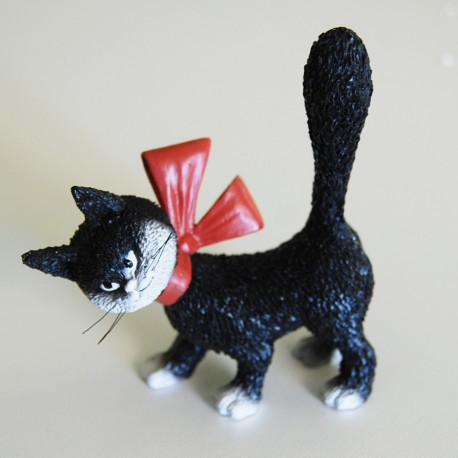 Fun sculpture of cat So cute! black by the french illustrator Dubout