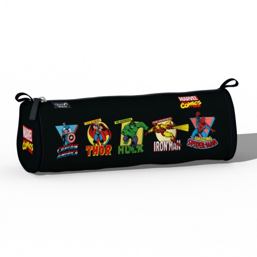 Pencil School case Marvel Comics black