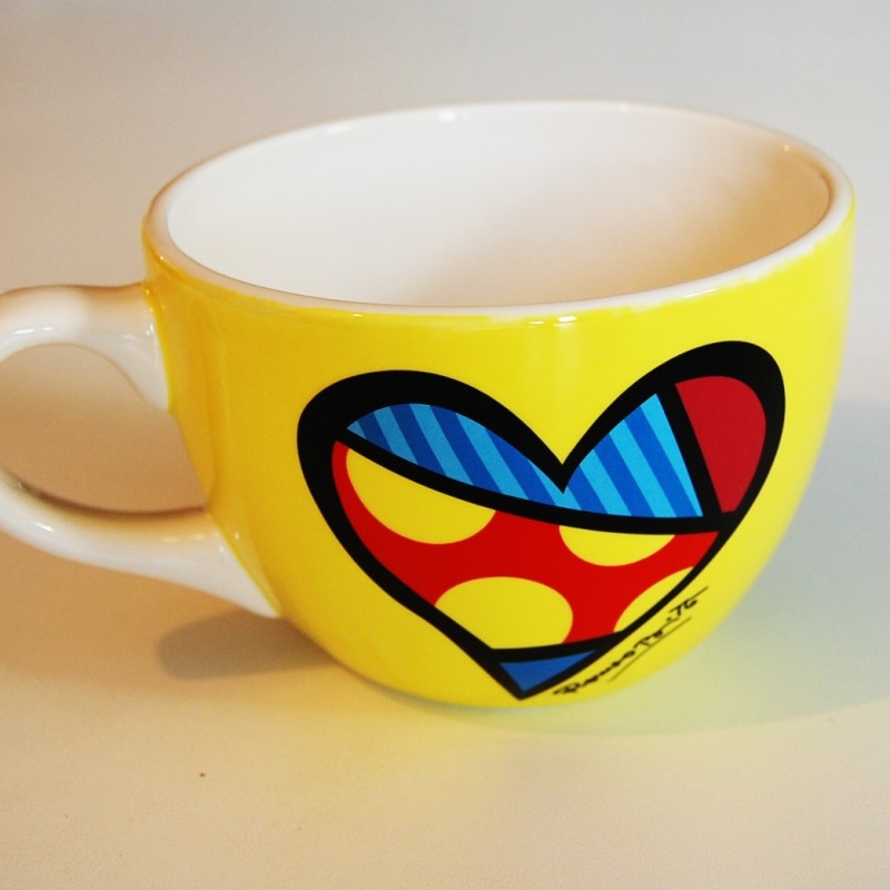 lot de 4 mugs capuccino de romero britto. Black Bedroom Furniture Sets. Home Design Ideas