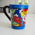 Mug en céramique The Hug Romero Britto Bleu