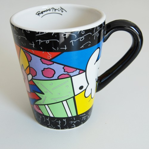 Mug en céramique The Hug Romero Britto Noir