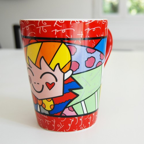 Mug en céramique The Hug Romero Britto Rouge