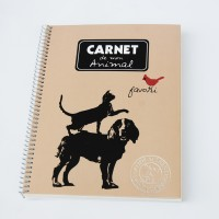 Spiral notebook Animal by Alicia and Rafael Alonzo