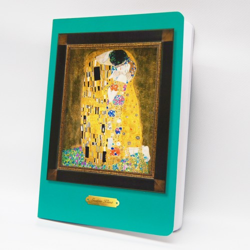 drawing book with Klimt illustration