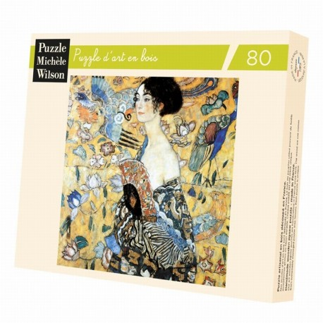 Puzzle Klimt The woman with the fan - 80 pieces