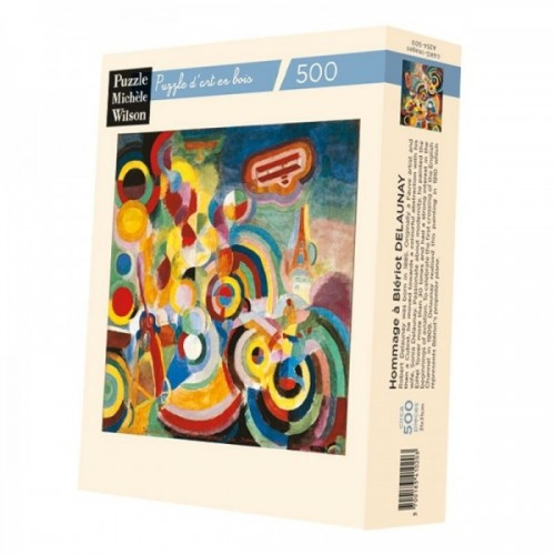 Wooden art puzzle - Tribute to Bleriot Delaunay - 500 pieces
