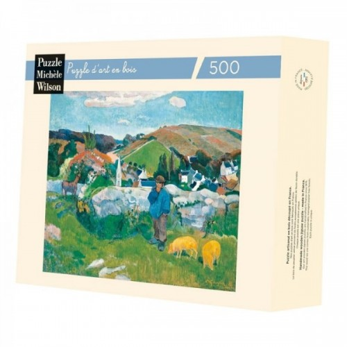 Wooden art puzzle - The Porchet de Gauguin - 500 pieces