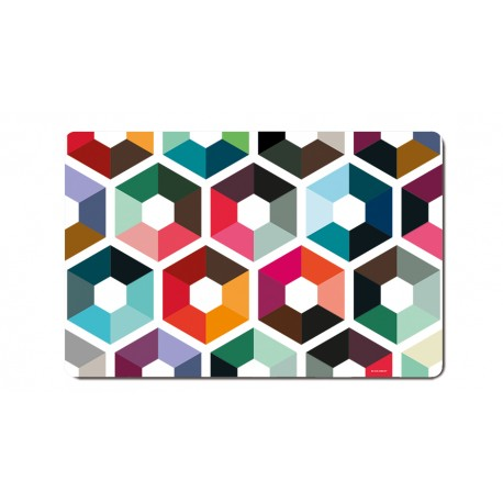 Placemats Hexagon colored pattern