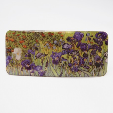 Hair clip with printed artwok Iris from famous artist Van Gogh