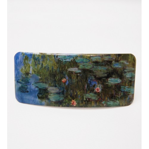 Barrette à cheveux original Nymphéas de Monet