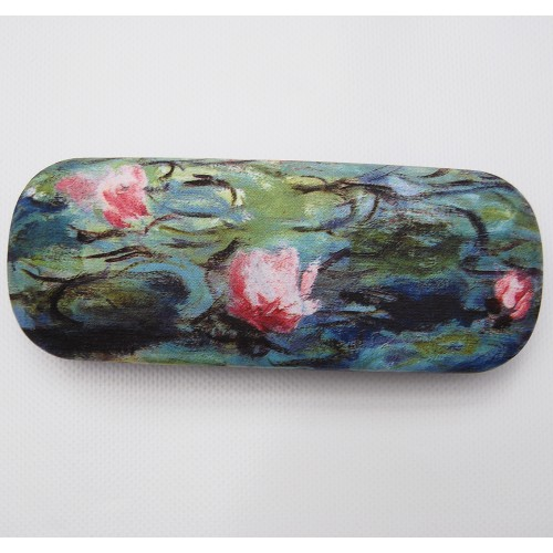 Glasses box with printed painting Water Lilies by famous artist Monet