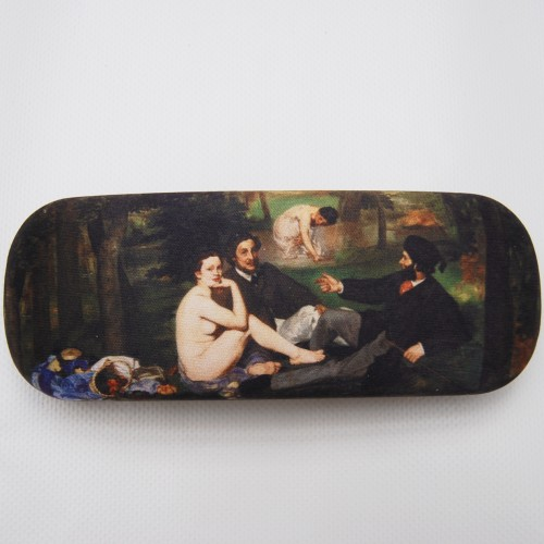 Glasses box with artwork Breakfast in the countryside by Manet