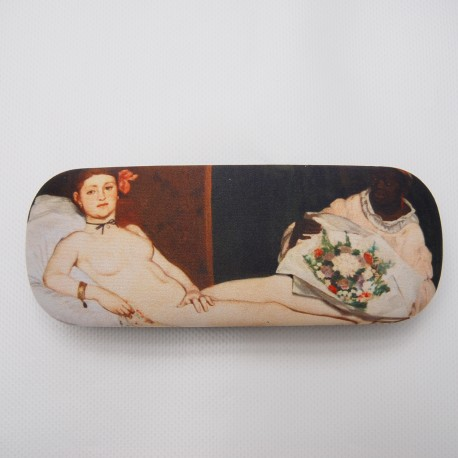 Glasses box with artwork Olympia by Manet
