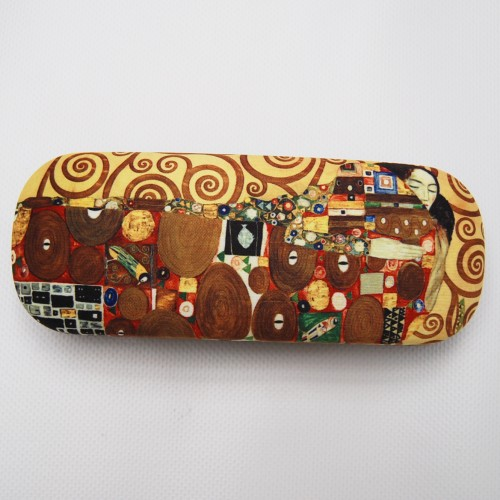 Glasses box with printed painting Fulfillment II by famous artist Klimt