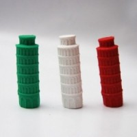 3 Pise Tower erasers italians colors
