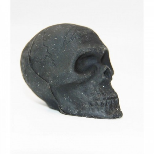 3D rubber black skull