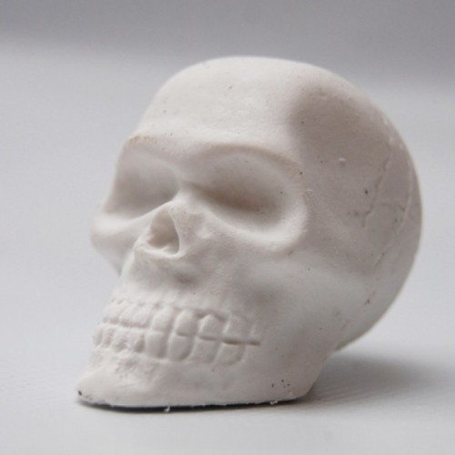 3D rubber white skull