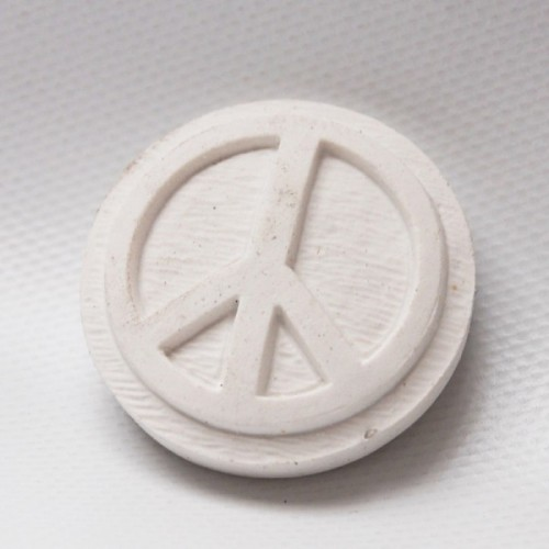 3D rubber peace and love