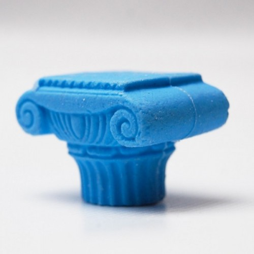 3D rubber ancient column blue