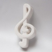 3D rubber music note
