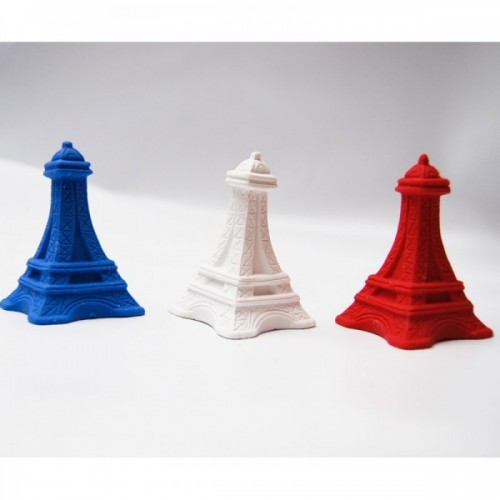 3 Eiffel Tower erasers french colors