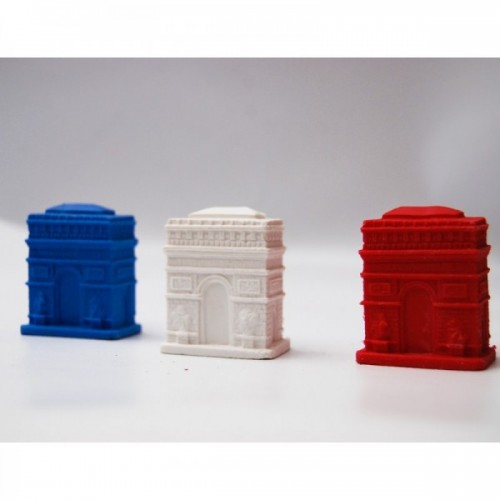3 triumphal arch erasers french colors