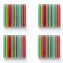 Lot de 4 sous-verre Stripes