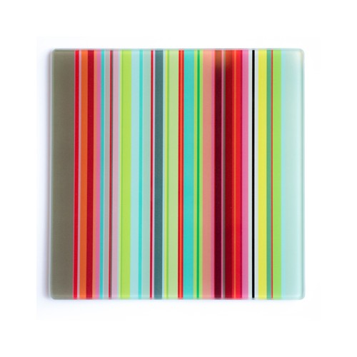 Plateau en verre Stripes