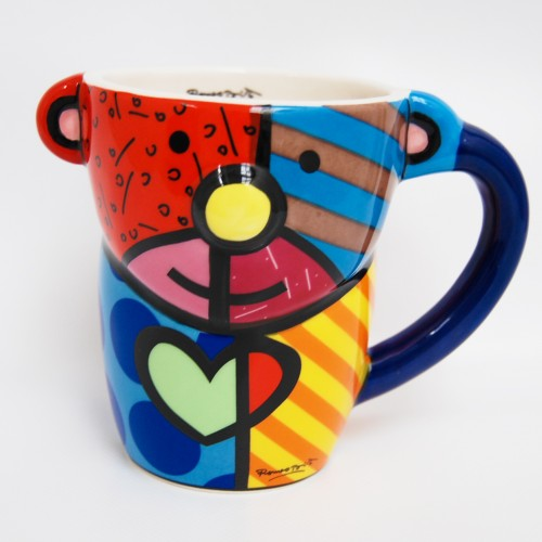 Ceramic bear mug by Romero BRITTO