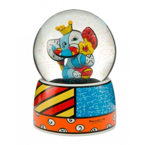 Water Globe bear Truly Yours by Brazilian artist Romero Britto