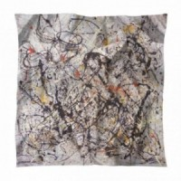 Square scarf of silk after a work of Pollock Number 18 (1950)