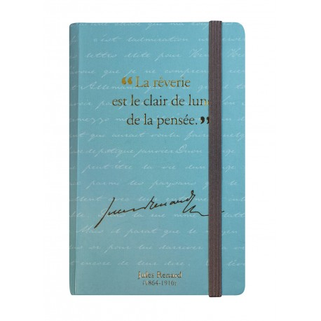 Small notebook with a quote of Jules Renard