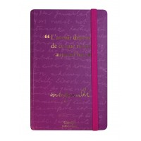 Small notebook with a quote of Gandhi