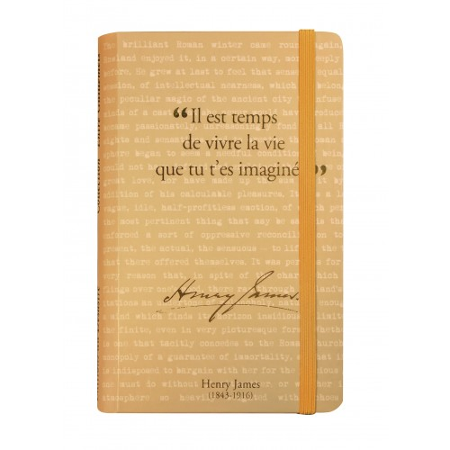 Small notebook with a quote of Henry James