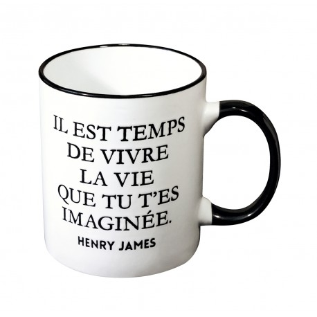 Mug with a quote in french from Henry James