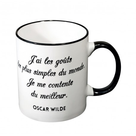 Mug with a quote in french from Oscar Wilde