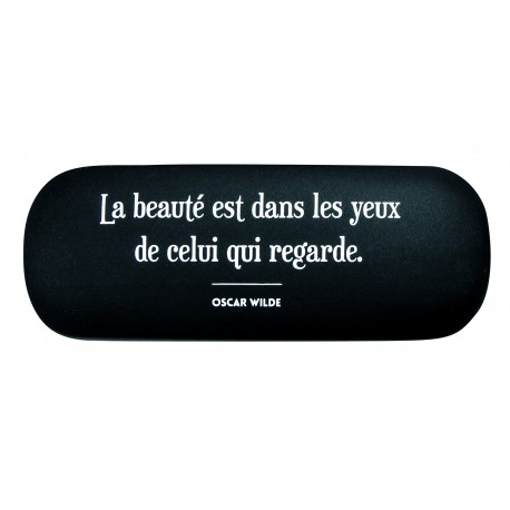 Eyeglass Case With A Quote In French From Oscar Wilde