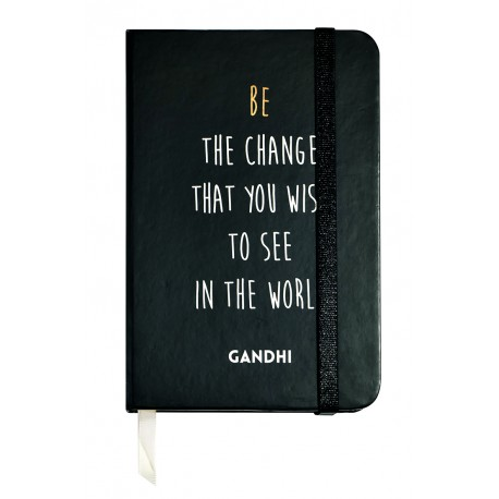Small notebook with a quote of Ghandi
