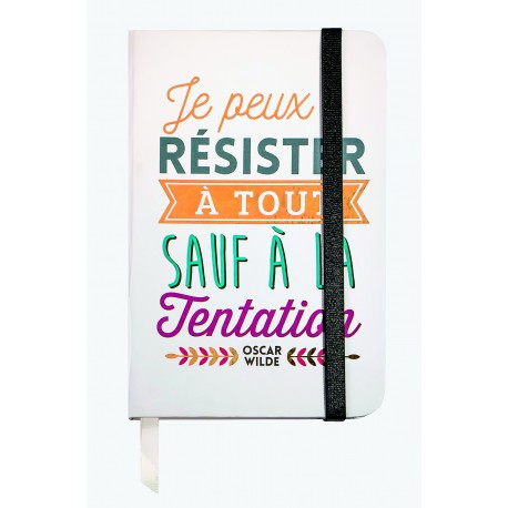 Small notebook with a quote in french from Oscar Wilde