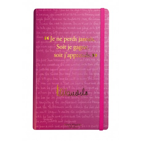 Notebook with a quote from Nelson Mandela