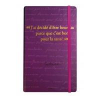 Notebook with a quote from Voltaire