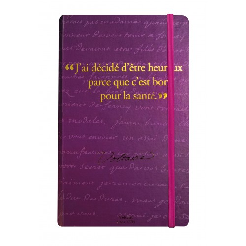 Carnet de notes avec citation de Voltaire