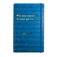 Notebook with a quote from Mozart