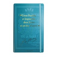 Notebook with a quote from Charles de Gaulle