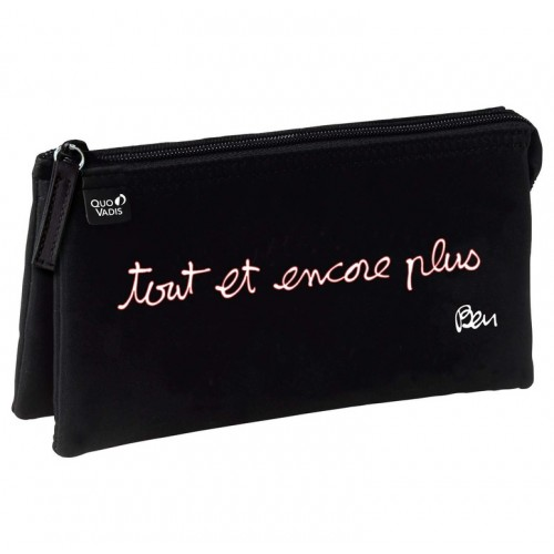 Pencil School case black and white By French artist ben with French writing all and more